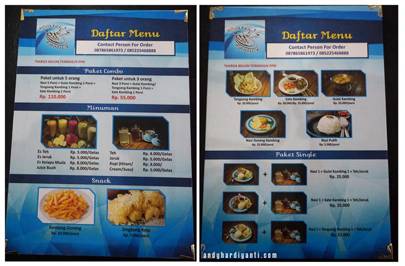 rumah makan sate family lombok
